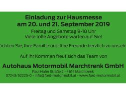 Hausmesse Ford Motormobil Marchtrenk Sept 2019